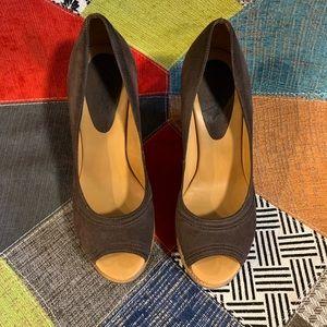 KORS Michael Kors peep toe leather shoe